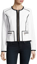 Calvin Klein Contrast Zip-Front Blazer