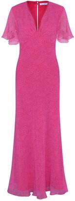 Libelula Midi Tammim Dress Salmon Organic Print
