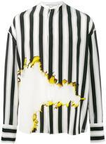 Haider Ackermann bleach and stripe print shirt