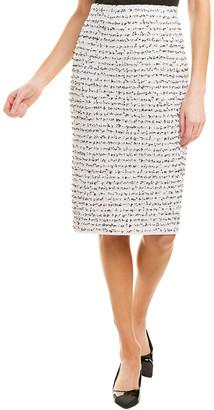 St. John Wool-Blend Pencil Skirt