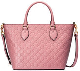 Gucci Guccissima Small Leather Tote Bag, Light Pink