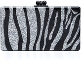 Edie Parker zebra pattern rectangular clutch - women - Acrylic - One Size