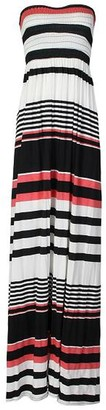 Mixlot Mix lot New Women Ladies Sheering Gather Boobtube Bandeau Printed Long Summer Strapless Ladies Printed Summer Maxi Dresses (XL 16-18