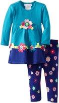 Bonnie Baby Baby-Girls Infant Flower Applique Knit Legging Set