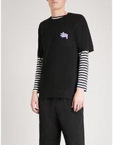 Stussy Checkers Cotton-jersey T-shirt