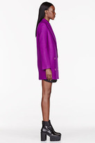 Stella McCartney Purple Felted wool Edith Coat