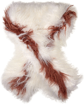 Fendi Bi-colour shearling scarf