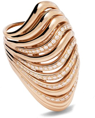 Mattia Cielo 18kt rose gold diamond Oceano ring