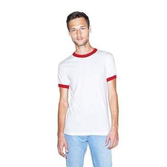 American Apparel Men's 50/50 Crewneck Short Sleeve Ringer T-Shirt