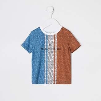 River Island Mini boys blue printed Maison Riviera T-shirt