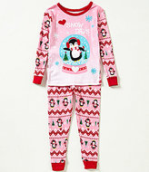Komar Kids Little Girls 2T-4T Christmas Snow Days Top and Pants Pajama Set