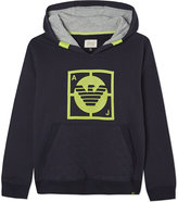 Armani Junior Logo Quilted Pocket Cotton Hoody 4-16 Years