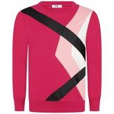 MSGM MSGMGirls Fuchsia Argyle Print Sweater