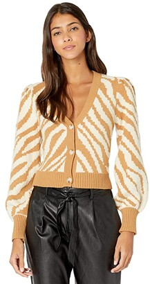Lost + Wander Joey Cardigan (Cream/Caramel) Women's Clothing