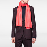 Paul Smith Men's Coral Cashmere Scarf