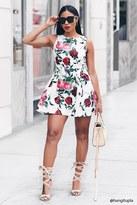 Forever 21 FOREVER 21+ Floral Print Jacquard Dress