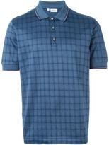 Brioni checked polo shirt