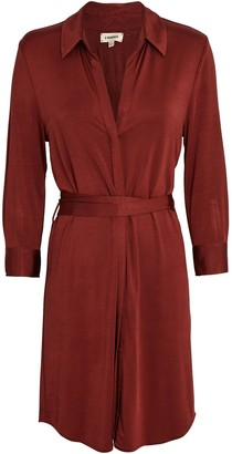 L'Agence Addison Tie-Waist Shirt Dress