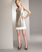 Sequin Block Dress