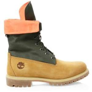 Timberland Men's Gaiter 6-Inch Leather Boots - Wheat Nubuck - Size 8 M