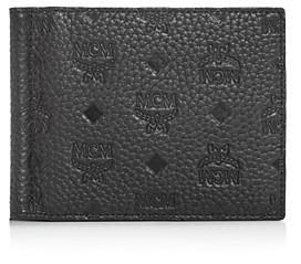 MCM Max Money Clip Leather Bi-Fold Wallet