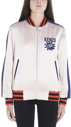 Kenzo Mountain Logo Embroidered Bomber Jacket