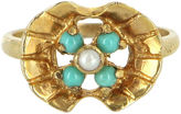 One Kings Lane Vintage Turquoise & Seed Pearl Ring