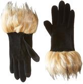 Lauren Ralph Lauren Long Gloves w/ Faux Coyote Fur