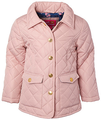 Pink Platinum Girls' Windbreakers and Shell Jackets BLUSH - Blush Diamond Quilted Jacket - Toddler & Girls