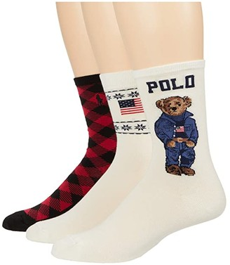 Lauren Ralph Lauren Winter Americana Crew Box (Assorted) Women's Crew Cut Socks Shoes