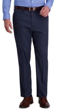 Haggar J.m. Men's Classic-Fit 4-Way Stretch Windowpane Sharkskin Performance Dress Pants