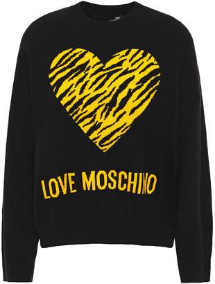 Love Moschino Intarsia-knit Sweater