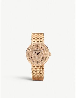 CARL F BUCHERER 0010309039331 Adamavi rose gold-plated and diamond watch