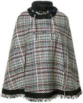 Sacai tweed poncho - women - Cotton/Acrylic/Nylon/Cupro - 2