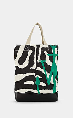 J.W.Anderson Women's Leather-Trimmed Canvas Tote Bag - Wht.&blk.