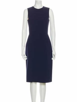Ralph Lauren Purple Label Crew Neck Midi Length Dress w/ Tags Purple