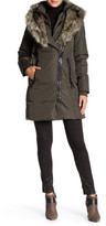 Rudsak Genuine Leather Faux Fur Sophia Coat