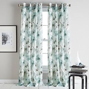 DKNY Modern Bloom Semi-Sheer Grommet Curtain Panel, 50 x 84