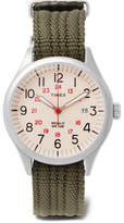 Timex Waterbury United Stainless Steel And Nylon-Webbing Watch