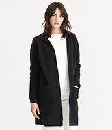 Lauren Ralph Lauren Hooded Open Front Solid Wool Cardigan