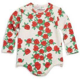 Mini Rodini Baby's Rose Printed Bodysuit