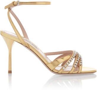 Miu Miu Crystal-Embellished Strappy Sandals