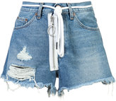 Off-White Auction House denim shorts