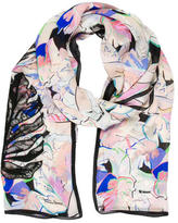 Roberto Cavalli Lace-Accented Printed Scarf