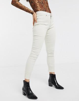 Vero Moda skinny push up jeans in off white