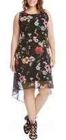 Karen Kane Plus Size Women's Kane Kane Floral High/low Dress