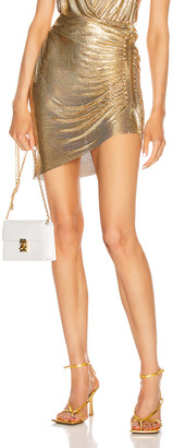 Fannie Schiavoni Ciara Skirt in Gold | FWRD