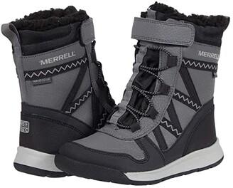 Merrell Snow Crush 2.0 Waterproof (Toddler/Little Kid/Big Kid) (Black/Grey) Boy's Shoes