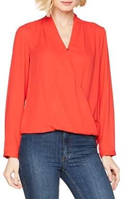 Seidensticker Women's 124733 Wrap Long Sleeve Blouse - Red - 16