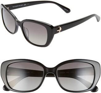 Kate Spade Kenzie 53mm Polarized Cat Eye Sunglasses